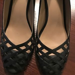 Black lattice detail SoleSociety heels